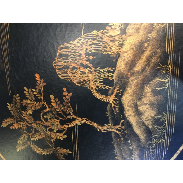 Chinoiserie Oval Metal Cocktail Table For Sale In West Palm - Image 6 of 12