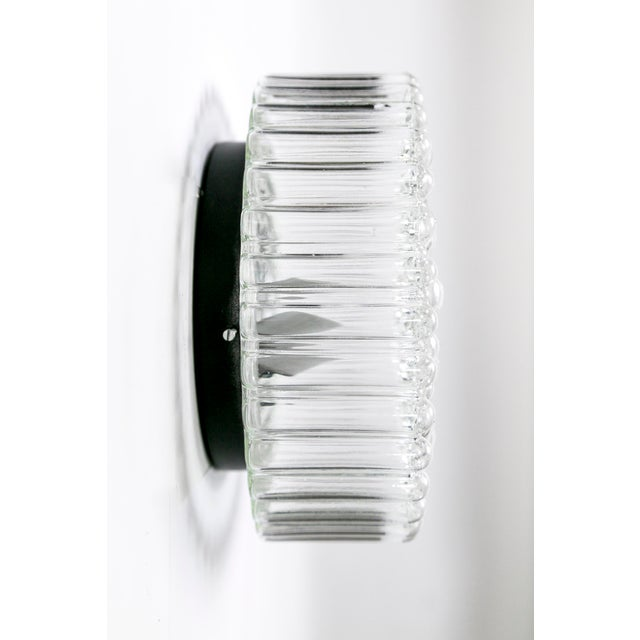 1960s Circular Crystal Clear Bubbles Sconce by Helena Tynell For Sale - Image 5 of 6