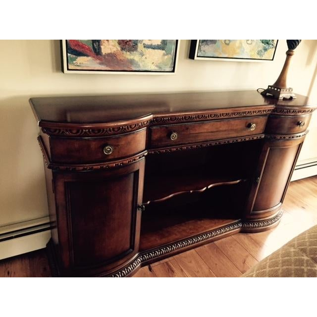 Century Furniture Rounded Cabinet Console - Image 3 of 4
