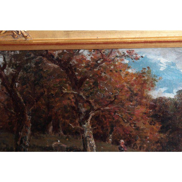 Late 19th Century 19th Century Oil Painting of Sheep Signed James Desvarreux For Sale - Image 5 of 13