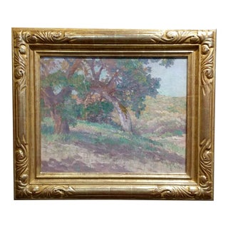 Charles Fries -Oaks near Descanso-Important California Impressionist-Oil Painting