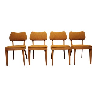 Set of 4 Mid-Century Danish Modern Heywood Wakefield Champagne Dining Chairs