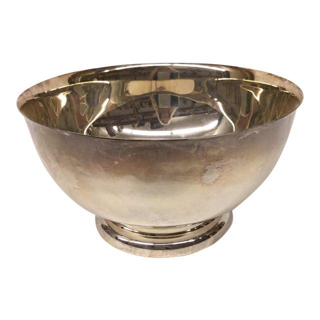 1970s Art Nouveau Sheffield Silver-Plated Revere Bowl For Sale