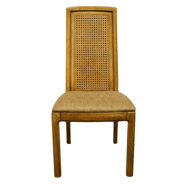 Vintage Thomasville Furniture Forecast Collection Contemporary Cane Back Dining Side Chair For Sale