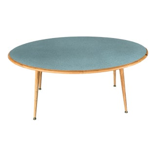 1960s Mid-Century Modern Formica Top Oval Coffee Table For Sale