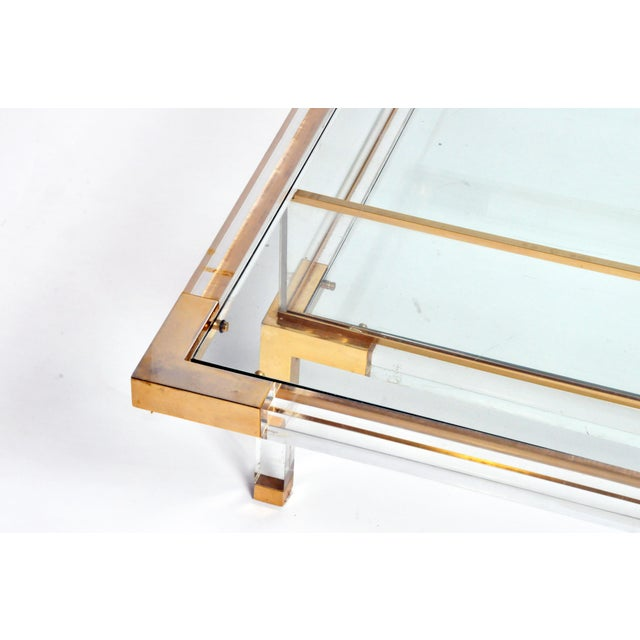Vintage 1970s Sliding Glass Top Coffee Table Attributed to Maison Jansen For Sale - Image 9 of 13