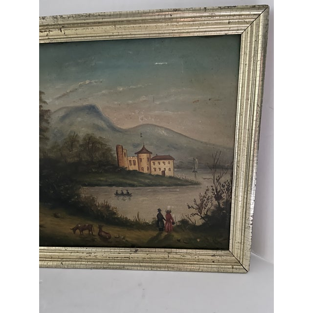 Antique Oil Painting of Landscape For Sale - Image 9 of 13