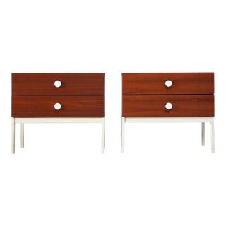 Pair of Danish Modern Teak 2-Drawer Nightstands