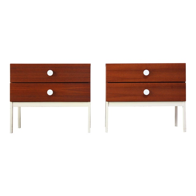 Pair of Danish Modern Teak 2-Drawer Nightstands - Image 1 of 9