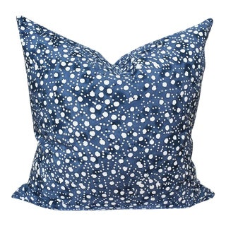 Blue and White Batik Double Side Down Fill Pillow For Sale