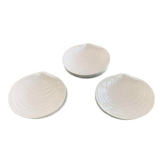 Pottery Barn Clamshell Dessert or Salad Plates - Set of 12 For Sale
