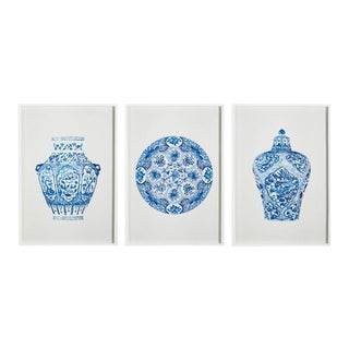 Chinoiserie Framed Art - Set of 3 For Sale