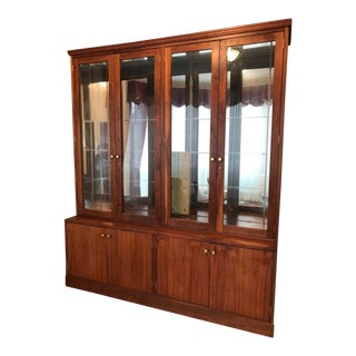 Gorgeous Danish Mid-Century Modern Teak China Cabinet For Sale