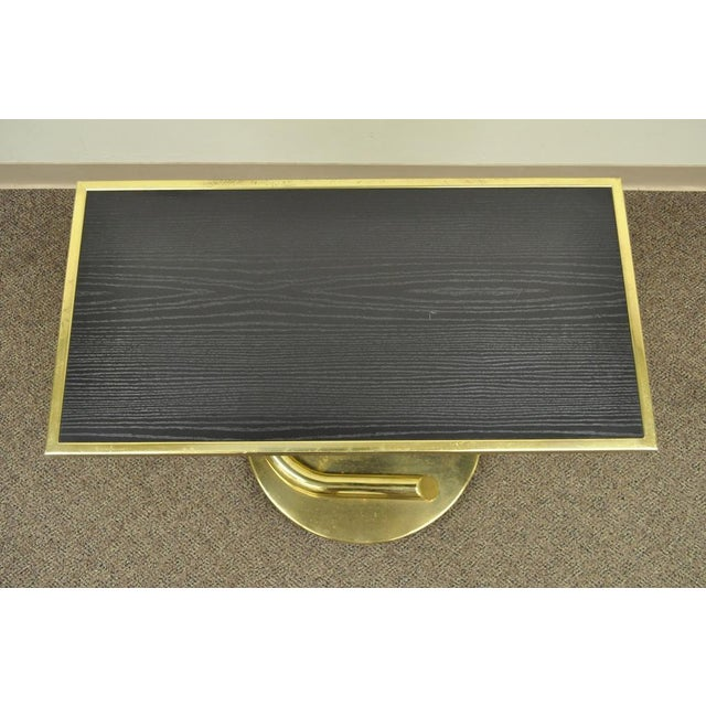 Paul Tuttle Vintage Paul Tuttle Mid Century Modern Brass Revolving Tray Top Anaconda Side Table For Sale - Image 4 of 11