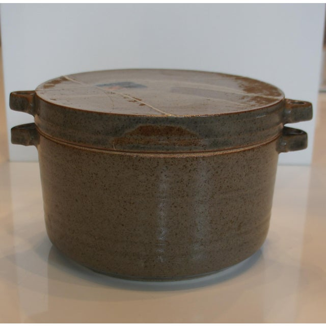 Mid Century Signed Studio Pottery Lidded Casserole Dish - Image 2 of 7
