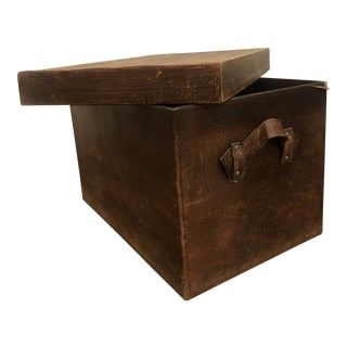 Leather Storage Box With Lid For Sale