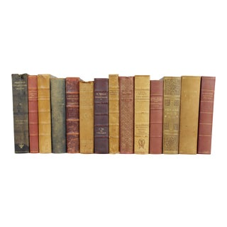 Leather-Bound Books - Set of 14