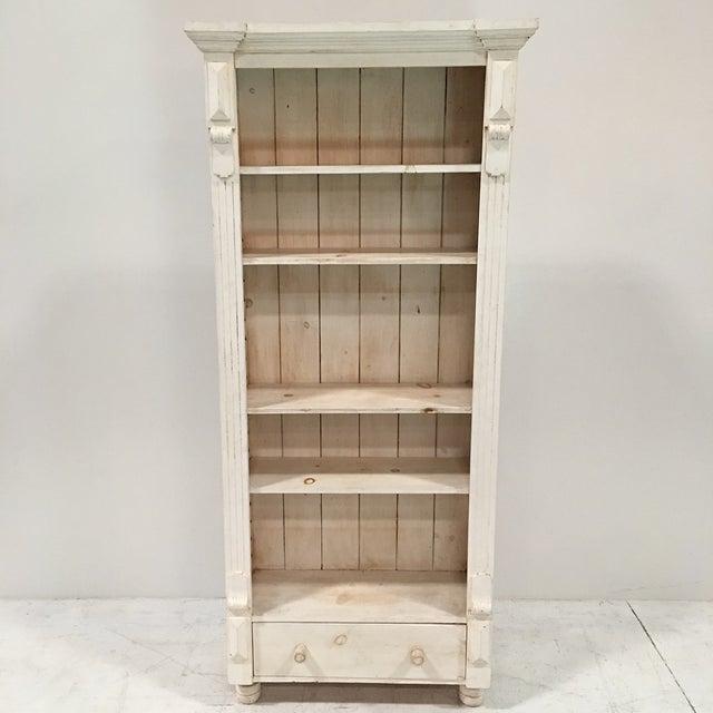 Rustic Tall White Shelf - Image 3 of 9