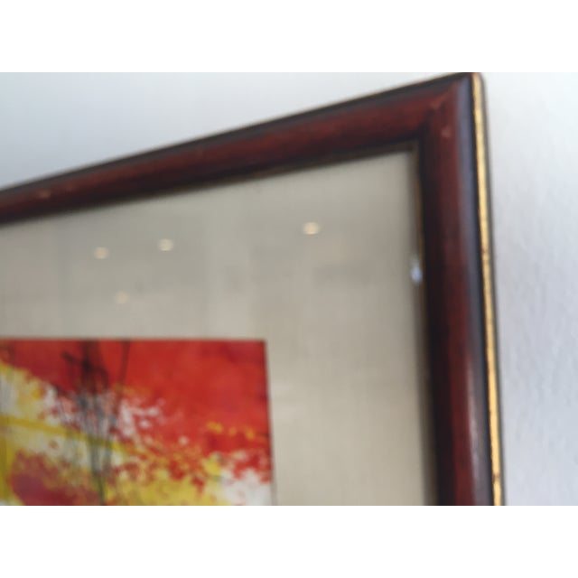 Mid-Century Modern Signed Water Color Painting - Image 11 of 11