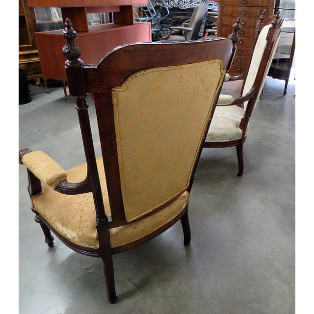 Louis XVI Style Companion Armchairs - a Pair For Sale In Philadelphia - Image 6 of 8