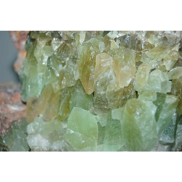Green Calcite Rock Table Lamps by Swank Lighting - a Pair For Sale - Image 10 of 10
