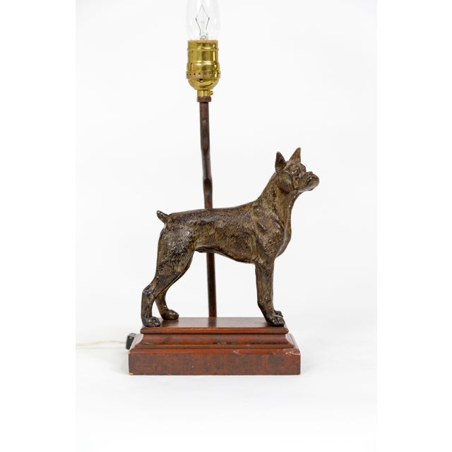 Cast Bronze Dog Sculpture Lamp For Sale - Image 12 of 12