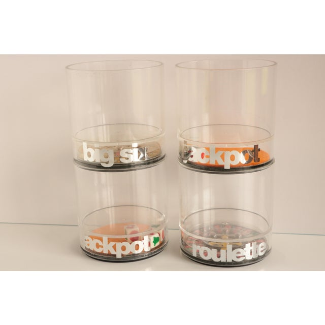 Casino Acrylic Lowball Glasses - Set of 4 For Sale - Image 9 of 9