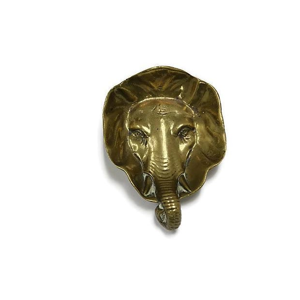 Antique Brass Elephant Change Dish For Sale - Image 5 of 5