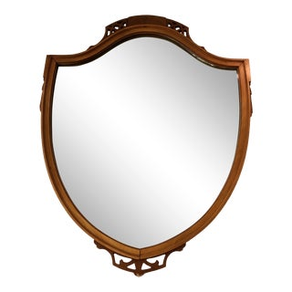 1930's Federal Style Veneered Mahagony Mirror For Sale