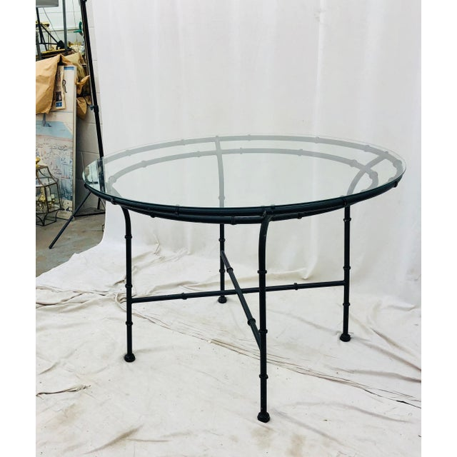 Vintage Faux Bamboo Style Table For Sale - Image 12 of 13
