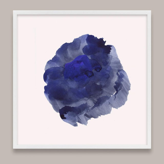 Not Yet Made - Made To Order Framed Blue Abstract Prints - Set of 6 For Sale - Image 5 of 9