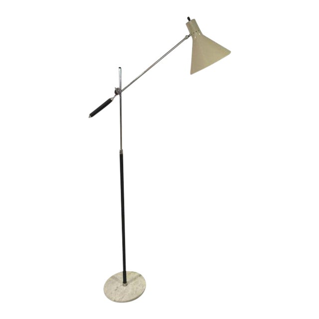 1960s Vintage Italian Floor Lamp With Marble Base For Sale - Image 12 of 12