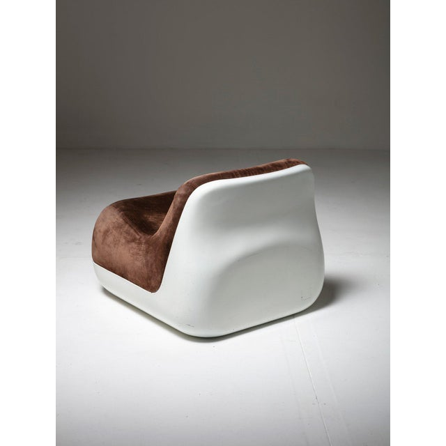 Saporiti Pair of Easy Chairs by Alberto Rosselli for Saporti For Sale - Image 4 of 7