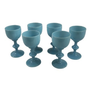 Antique Portieux Vallerysthal Cordials - Set of 6 For Sale