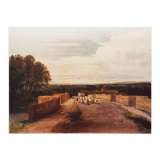 1950s Landscape Lithograph by David Cox