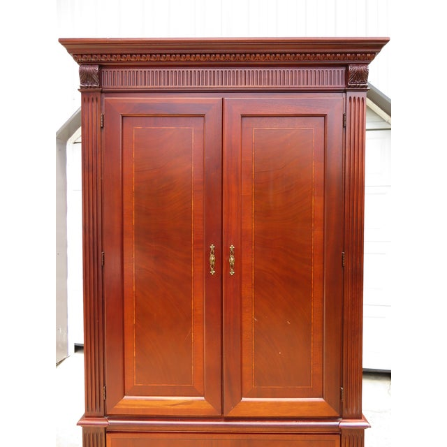 Ethan Allen 18th Century Collection Ethan Allen Mahogany Armoire For Sale - Image 4 of 11