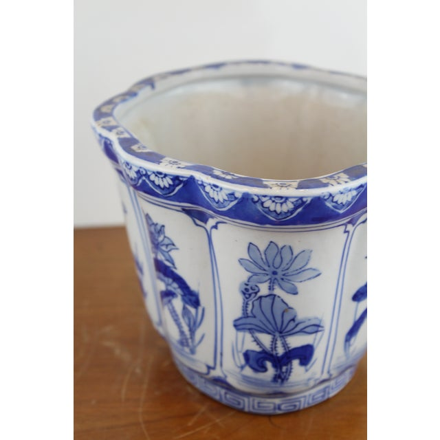 Mid 20th Century Vintage Mid Century Small Lotus Planter For Sale - Image 5 of 6