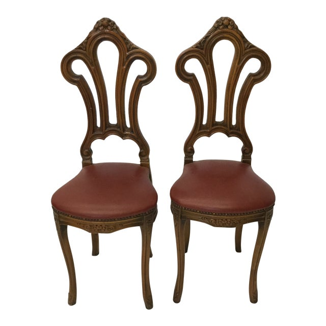 French Style Petite Accent Chairs - a Pair For Sale