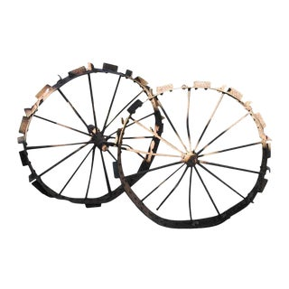 Old Wrought Iron Wagon / Tracker Wheel For Sale