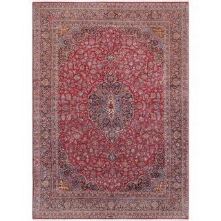 "Pasargad Home Antique Kashan Wool Area Rug- 10' 7"" X 15' 0"" For Sale"