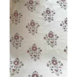 "Schumacher ""Beatrice Bouquet"" Pink Fabric 5 1/2 Yards For Sale"