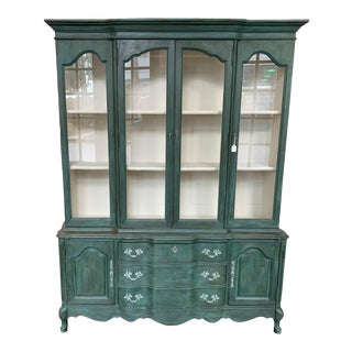 French Provincial Bassett Green China Hutch For Sale