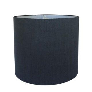 Large Navy Linen Custom Drum Shade