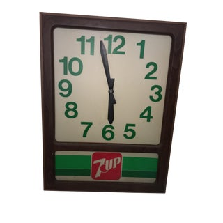 Vintage 7up Electric Store Advertising Sign For Sale