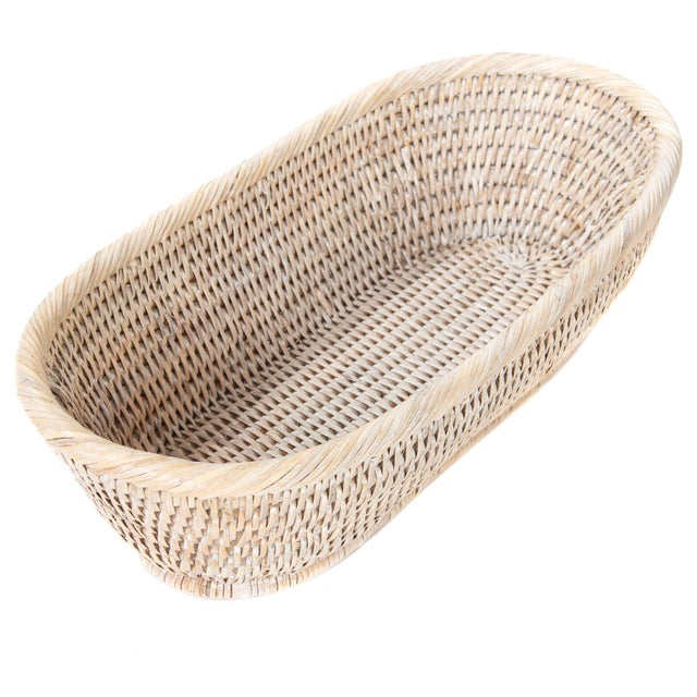 2010s Artifacts Rattan Oval Basket For Sale - Image 5 of 6