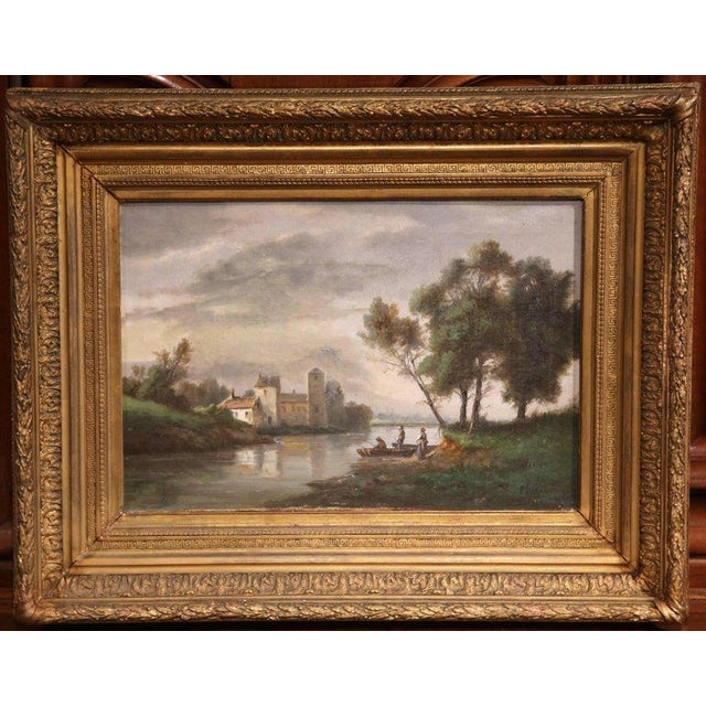 Gilt Framed French Pastoral Paintings - A Pair - Image 2 of 10