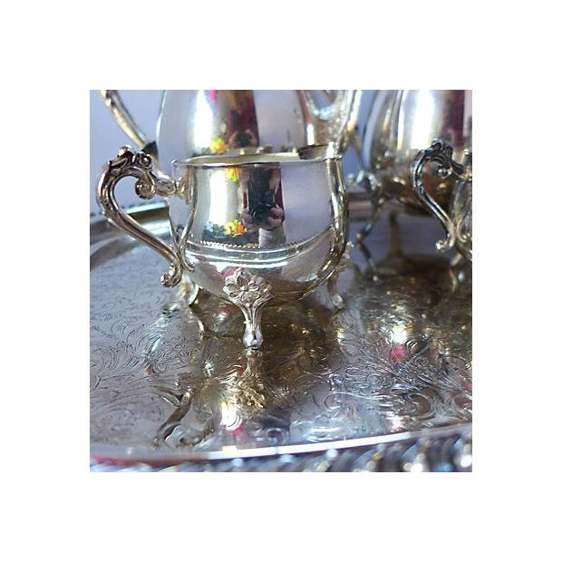 Vintage Five-Piece Silver Plate Tea & Coffee Set - Image 6 of 7