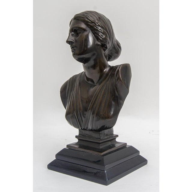 Grand Tour Bust of Venus Classical Bronze Museum Sculpture For Sale - Image 4 of 6