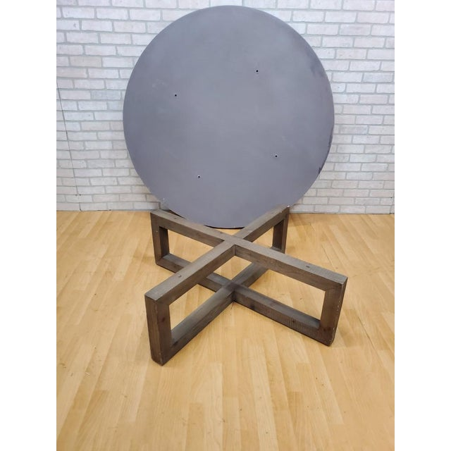 Restoration Hardware Restoration Hardware Heston Round Coffee Table For Sale - Image 4 of 8