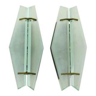 Pair of Fontana Arte Sconces For Sale